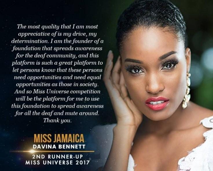 Miss Jamaica, Davina Bennett (Foto: Divulgação)