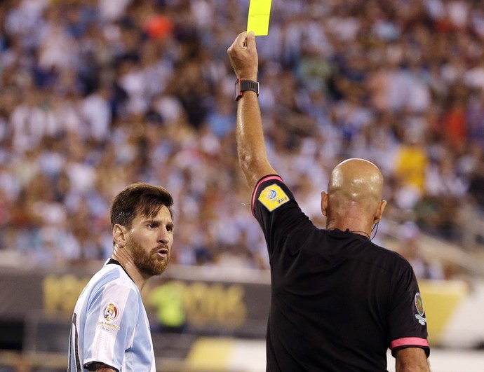 Heber Roberto Lopes Messi Argentina x Chile (Foto: AP)