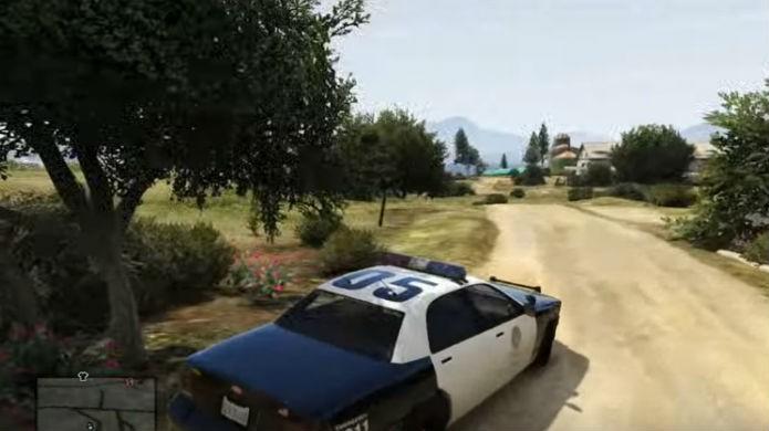Jogando como policial em GTA 5: agora todos tratarão Michael como legítimo Policial (Foto: Reprodução/Thomas Schulze)