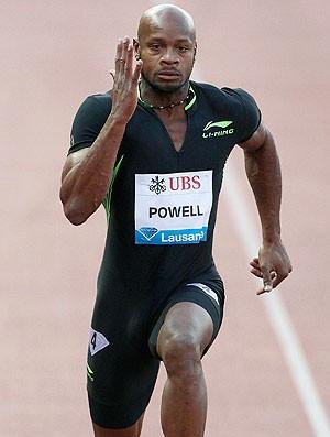 Asafa Powell na prova de atletismo (Foto: Reuters)