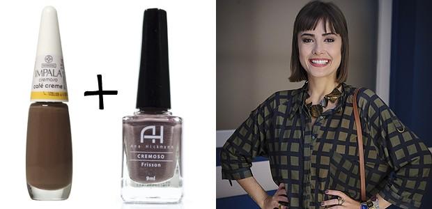 Maria Casadevall também faz um mix: Frisson! da Ana Hickman mais o Café Creme da Impala (Foto: TV Globo/Divulgação)