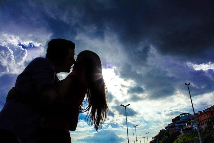 O amor está no ar (Foto: Michell Mello)