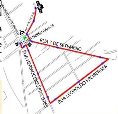 Tocha passa por Biguaçu na manhã desta terça (12) (Foto: Prefeitura de Biguaçu/Divulgação)