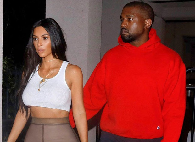 Kim Kardashian e Kanye West (Foto: The Grosby Group)