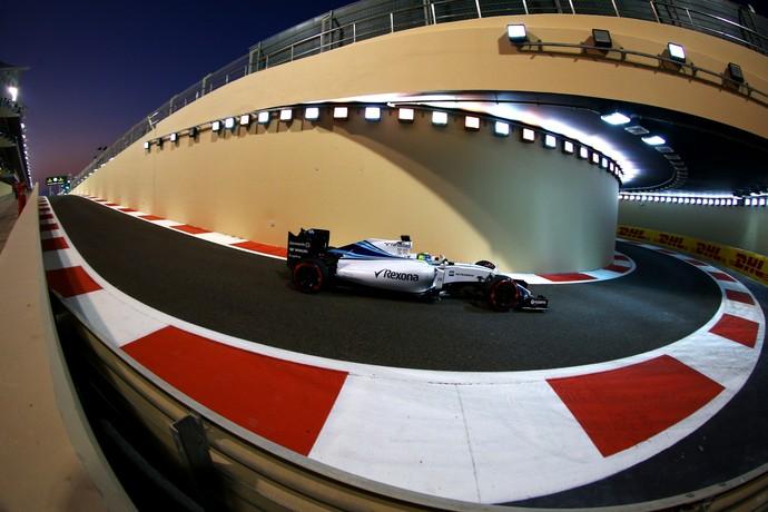 Felipe Massa em ação no treino classificatório para o GP de Abu Dhabi (Foto: Getty Images)