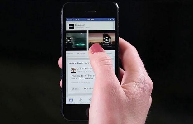 Vídeo publicado no Facebook e exibido em um smartphone. (Foto: Reprodução/Facebook)