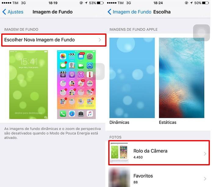 Usuário deve selecionar pastas com imagens para aplicar como papel de parede (Foto: Reprodução/Elson de Souza)