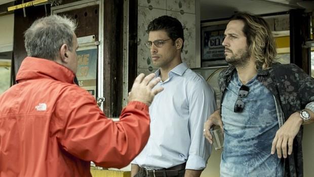 Cauã e Vladimir gravam cenas de 'Justiça'; veja (Ellen Soares/Gshow)