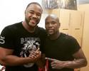 Curtinhas: Rashad Evans tieta em treino do boxeador Floyd Mayweather