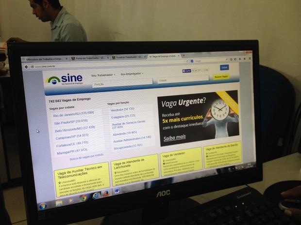 Sites divulgam vagas de emprego falsas e geram transtornos aos candidatos e Sines de Rondônia (Foto: Gaia Quiquiô/G1)