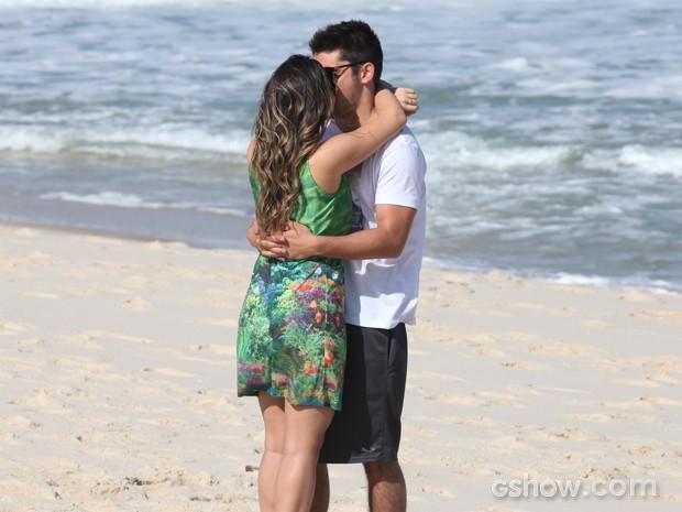 Casal foi feito um para o outro (Foto: Pedro Curi/TV Globo)