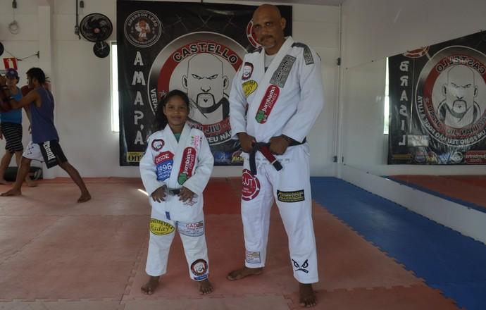 jiu jitsu menina 6 anos (Foto: Jonhwene Silva/GE-AP)
