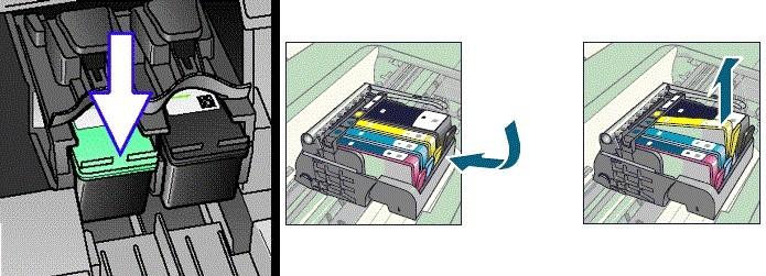 Retirando o cartucho da impressora (Foto: Divulgação/HP)