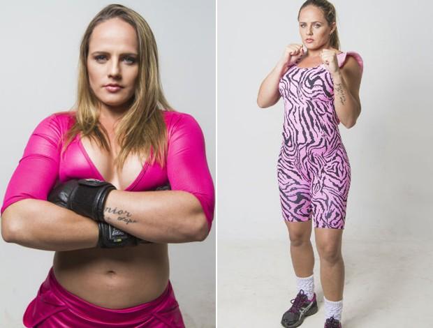 Carina Damm, lutadora capixaba de MMA, posa para ensaio fotográfico (Foto: Alex Gouvea/Divulgação)