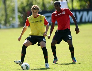 Thomás treino Flamengo (Foto: Maurício Val / Vipcomm)