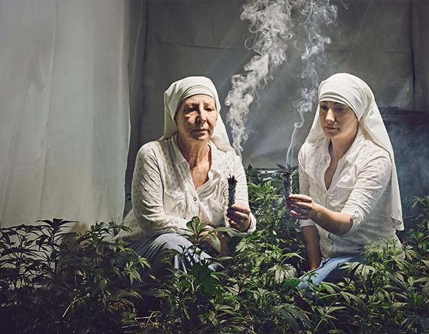 "Sister Kate e Sister Darcy em seu ""convento"" na Califórnia (Foto: Shaughn and John)"