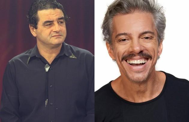Na TV, Dr. Matoso, pai de Matosinho e Matosão, foi interpretado por Otávio Augusto. Osvaldo Mil assume o papel do milionário na peça (Foto: Carlo Wrede/André Wanderley)