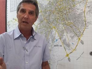 O secretário de Transportes de Campinas, Sérgio Benassi (Foto: Lana Torres / G1 Campinas)
