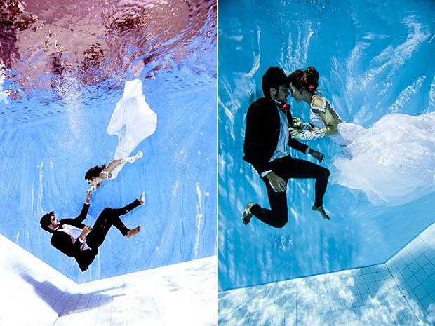Juliana Paiva e Rodrigo Simas se casam debaixo d'água (Foto: Neto Fernandez / Divulgação)
