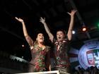 Susana Vieira e David Brazil são coroados como reis de bateria