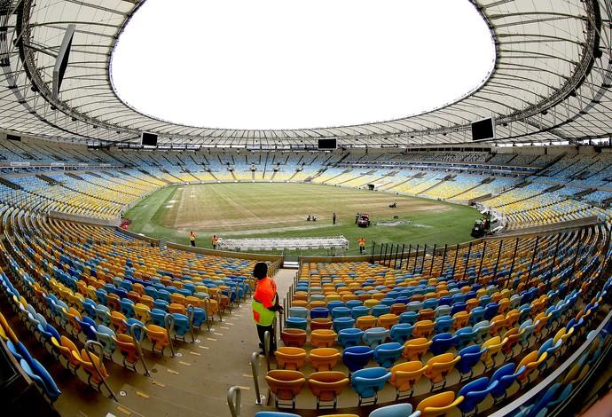 simulação jogo Maracanã Copa do Mundo teste (Foto: André Durão / Globoesporte.com)