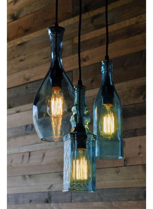 Luminária de garrafa de vinho (Foto: Pinterest)