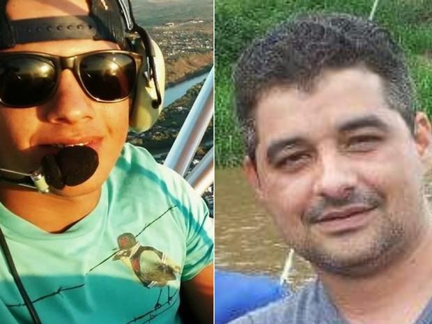 Luciano Amorim e Elderan Mendes morreram após queda de avião em Goiás (Foto: Reprodução/Facebook)