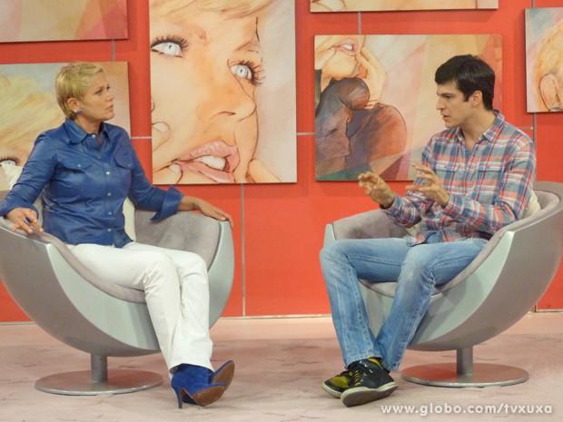 Mateus Solano e Xuxa (Foto: TV Xuxa / TV Globo)