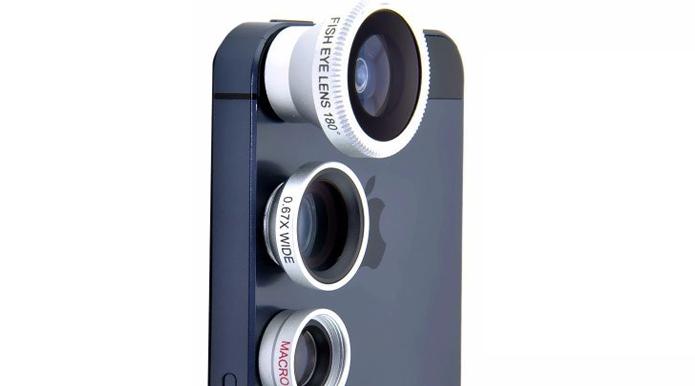 Lentes fisheye, wide e macro cabem em qualquer modelo, do Moto G ao iPhone (Foto: Divulgação)