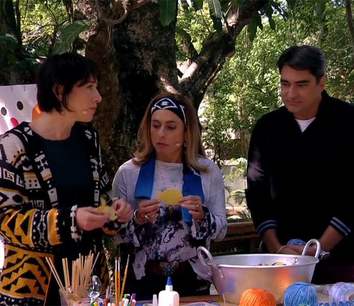Cissa e Zeca ao lado de Luciane (Foto: TV Globo)
