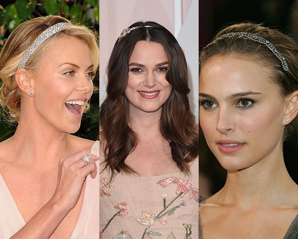 Charlize Theron, Keira Knightley e Natalie Portman são adeptas das headbands (Foto: Getty Images)