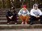 Integrantes da banda Pollo posam para o EGO no Parque do Ibirapuera