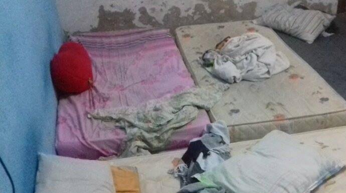 Caiçara, colchão, denúncia  (Foto: GloboEsporte.com)