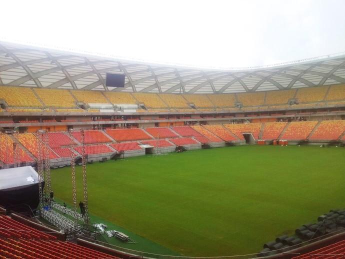 gramado arena da amazonia botafogo x flamengo (Foto: Divulgação)