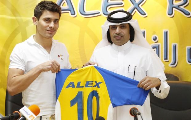 Alex apresentação Al gharafa (Foto: Divulgação)