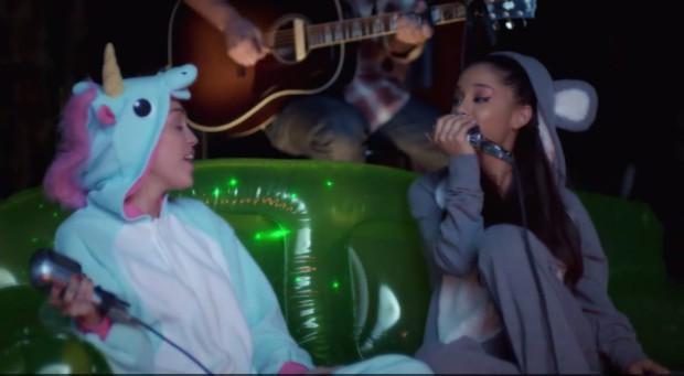Ariana Grande e Miley Cyrus (Foto: Reprodução/ Instagram)