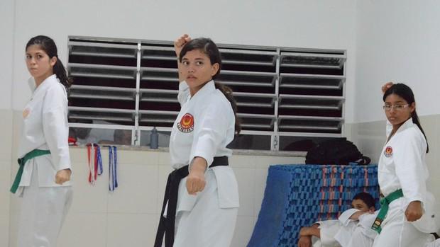 Caratecas sergipanas conquistam medalhas em Penedo-AL (Foto: João Áquila/GLOBOESPORTE.COM)