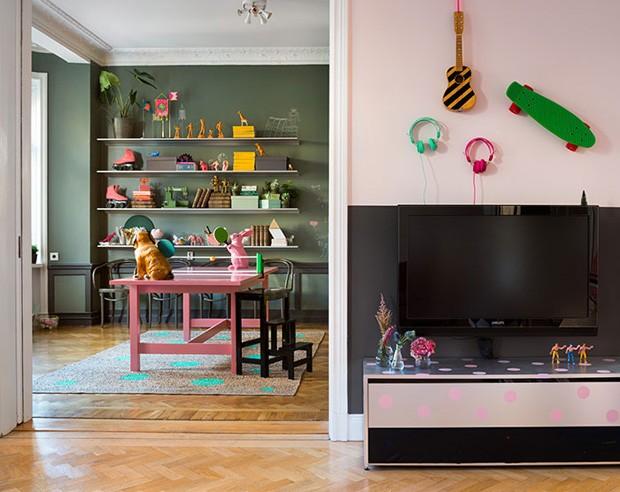 Apartamento é decorado para crianças brincarem (Foto: Dos Family/Divulgação)