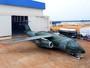 Embraer apresenta avião de transporte militar KC-390 em Gavião Peixoto, SP