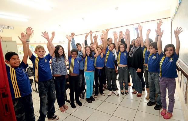PRIVILEGIADOS Alunos da rede municipal de Claraval, Minas Gerais. A cidade consegue dar educação completa para 96%  dos estudantes  de 5o ano (Foto: Jair Amaral/EM/D.A Press)