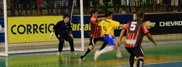 João Neto, goleiro de futsal da Paraíba (Foto: Larissa Keren)