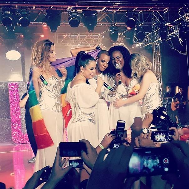 Rouge faz show em São Paulo com formação original (Foto: Reprodução/Instagram)