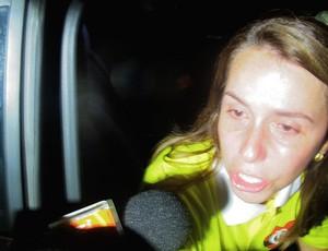 Patrícia Amorim lamentando derrota (Foto: Janir Júnior / Globoesporte.com)