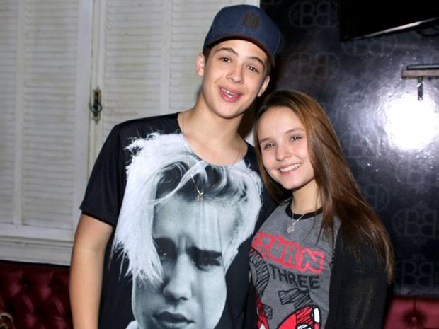 Larissa Manoela e João Guilherme em festa em São Paulo (Foto: Thiago Duran/ Ag. News)