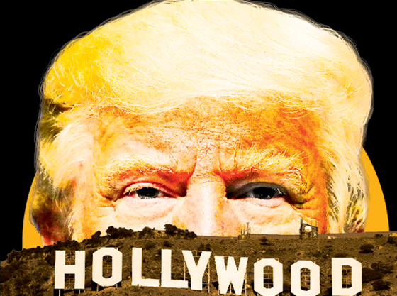 Hollywood vs. Trump (Foto: Montagem de Daniel Graf  sobre fotos GettyImages)