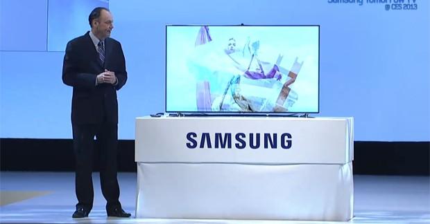 Tim Baxter apresenta a TV de LED F8000  (Foto: Reprodução)
