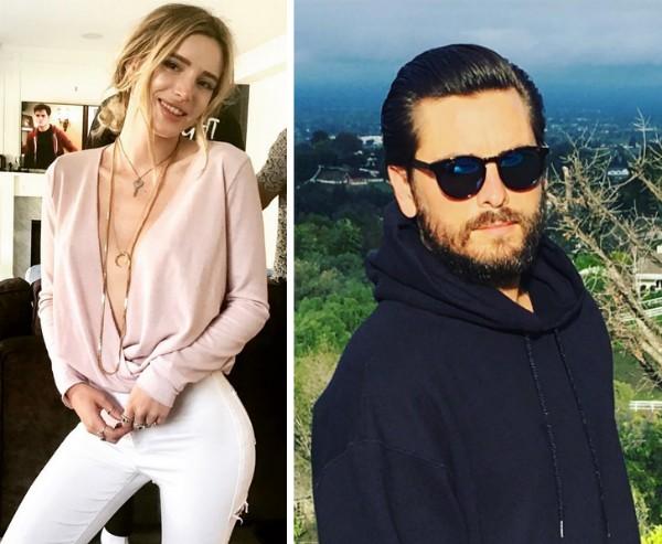 A atriz Bella Thorne e o empresário Scott Disick (Foto: Instagram)