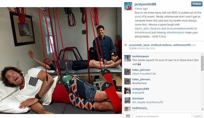 Jordy Smith, surfe, redes sociais (Foto: Reprodução/Instagram)
