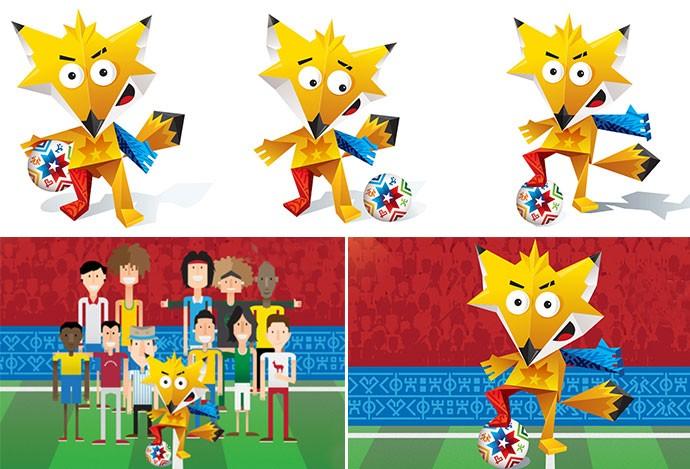 Montagem, Mascote copa América chile 2015 (Foto: Reprodução / Site Oficial)