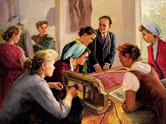 COOPERAÇÃO Costureiras soviéticas em tela de 1960. Essas profissionais estão no centro da trama de O que fazer?, de Tchernichevski (Foto: Fine Art Images/Heritage Images/Getty Images)